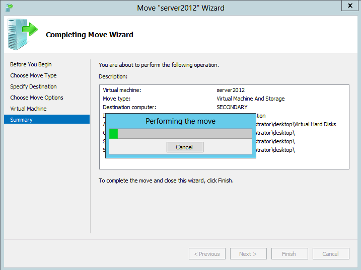 Windows Server 2012 Hyper-v Live Migration