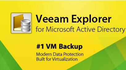 Veeam Backup Üzerinde Active Directory Database geri getirme