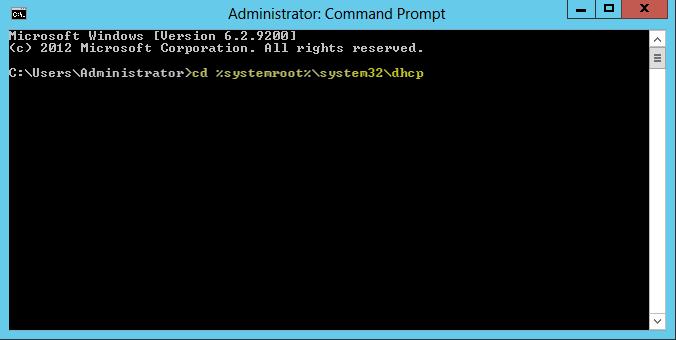 Windows Server 2012 DHCP Database(veritabanı) Bakımı