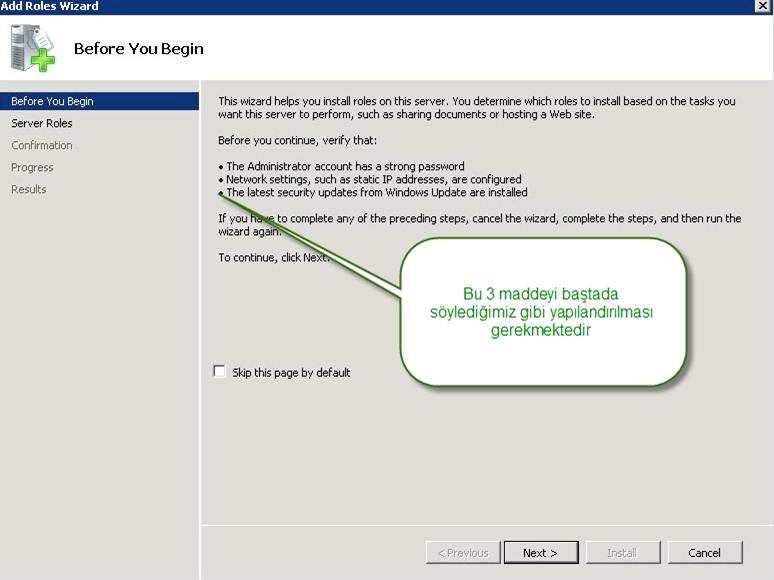 DHCP Server Rolünün Kurulumu ve Yapılandırılması