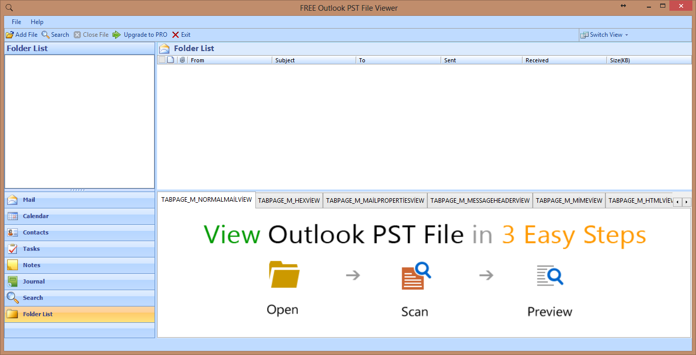 outlook pst viewer8