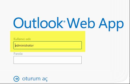 Exchange Server 2013 Owa-Giriş biçimi Kullanıcı adı değiştirilmesi