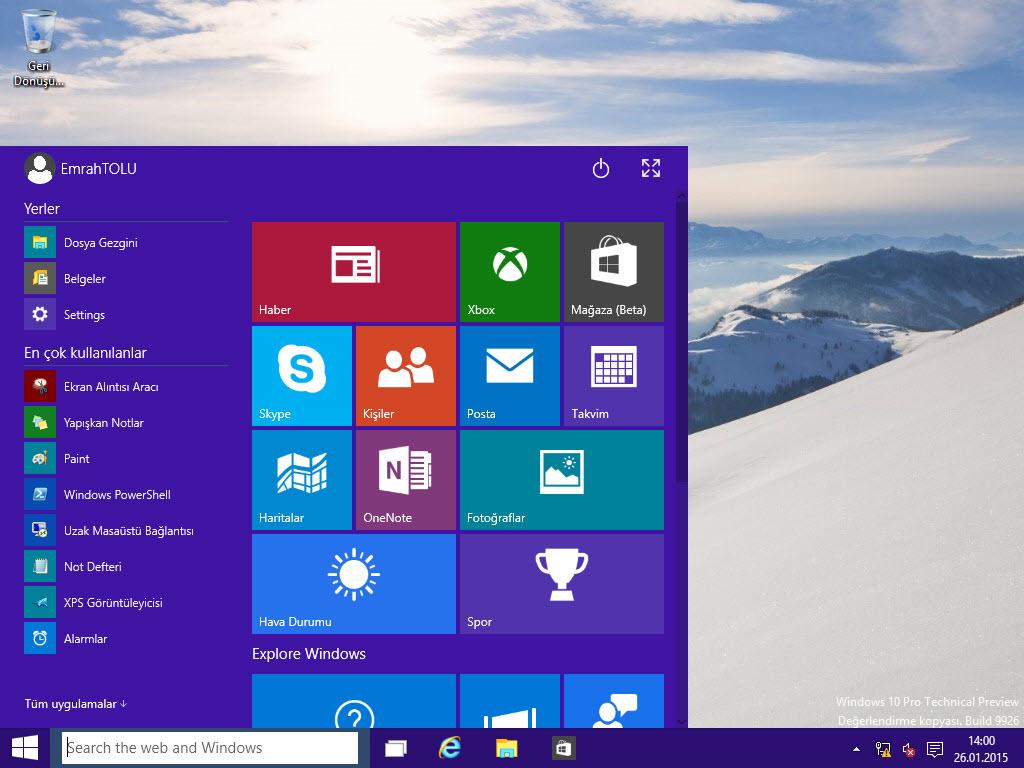 Windows 10 Bildirimleri Kapatma
