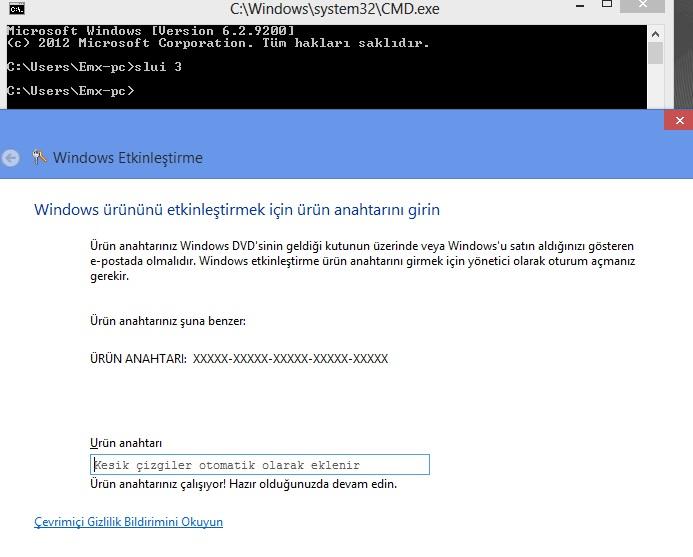 Windows 8 aktivasyon hata çözümü 0x8007007B